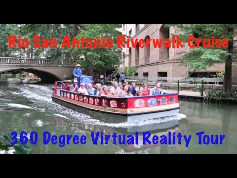 San Antonio Riverwalk Boat Tour in 360 Degree Virtual Reality