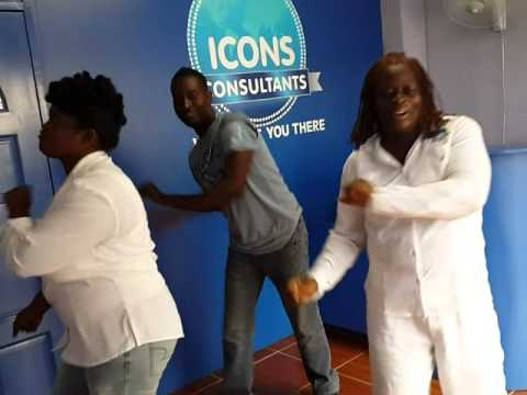 Icons Consultants Jamaica Staff Members Dance Off