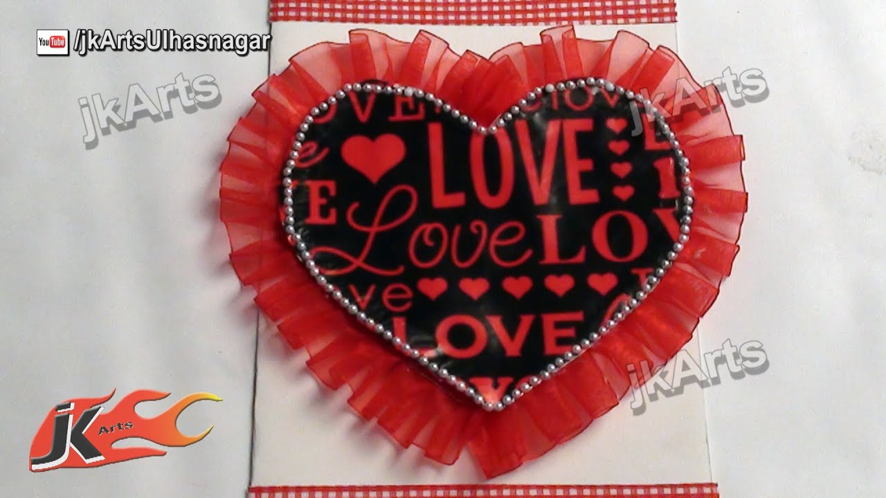 Diy How To Make Valentines Day Greeting Card Jk Arts 477 Youtube