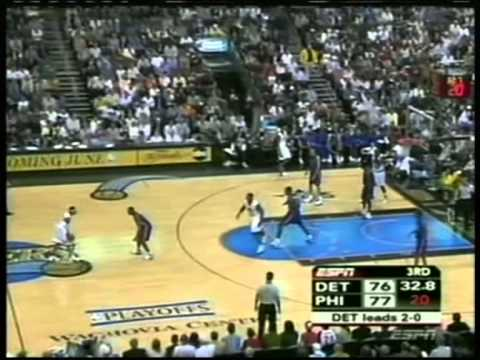 Allen Iverson 37 pts,15 ast, playoffs 2005, 76ers vs pistons game 3