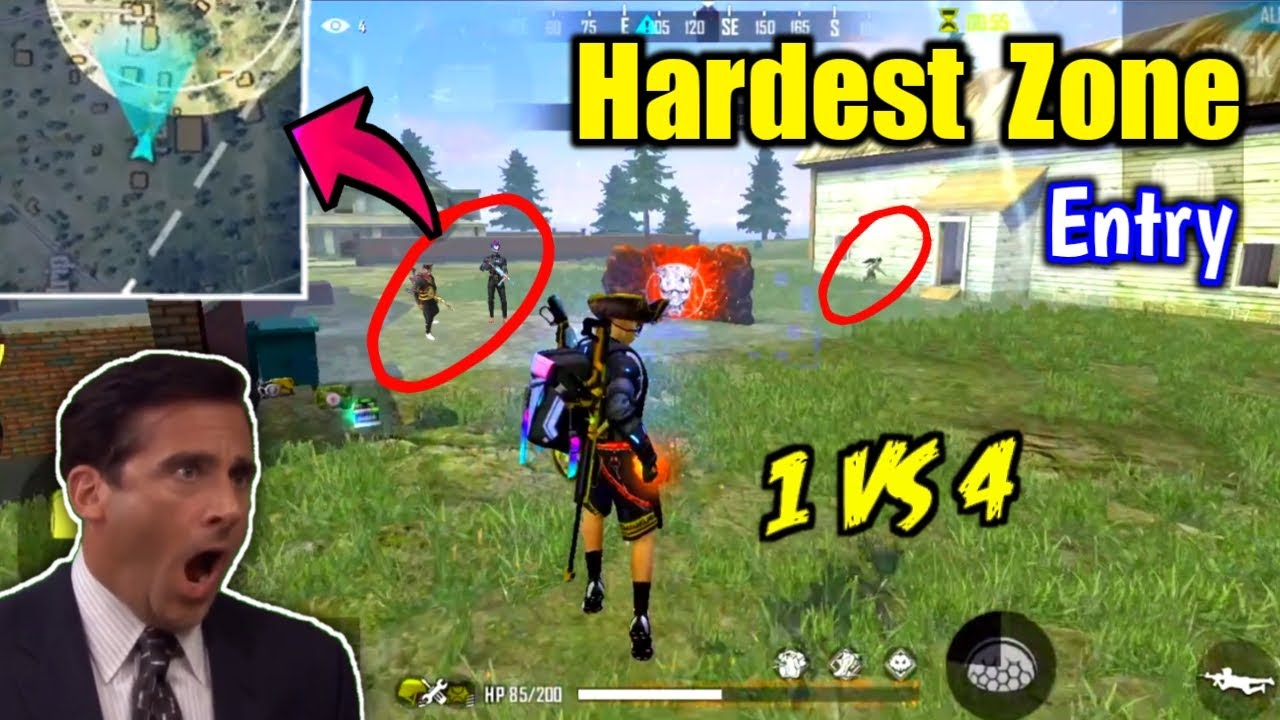 Hardest Zone Entry Ever😵🔥Must Watch This - Garena Free Fire !!
