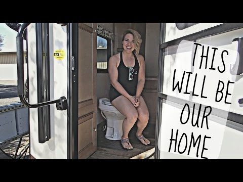 IT'S FINALLY OURS!! CAMPER TRAILER HOME TOUR