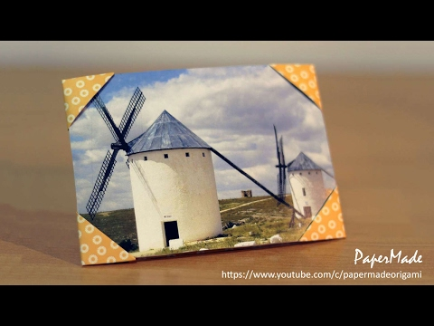 how to make Photo Frame with paper | Origami | DIY | PaperMade