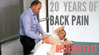 20 Years of Low Back Pain RELIEVED Fast- ASTR Class (REAL TREATMENT!!!)