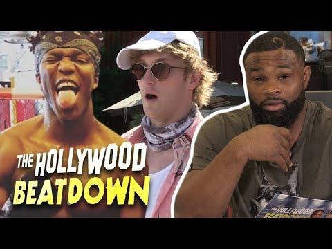 Tyron Woodley Hypes Up Logan Paul vs KSI | The Hollywood Beatdown