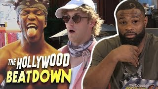 Tyron Woodley Hypes Up Logan Paul vs KSI | The Hollywood Beatdown
