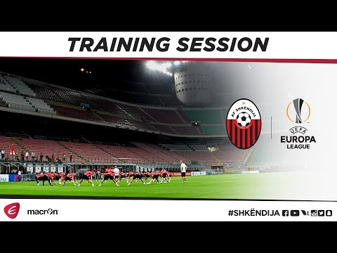 UEL | Our final preparations in San Siro ahead of tomorrow's clash with AC Milan