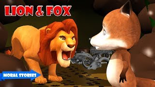 The Fox And The Old Lion Story | English Moral Stories For Kids | Bedtime Animals Moral Stories