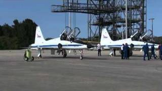 Final Space Shuttle Discovery Crew Arrives at NASA