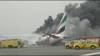 إجلاء جميع ركاب طائرة طيران الامارات بزمن قياسي إثر هبوط اضطراري