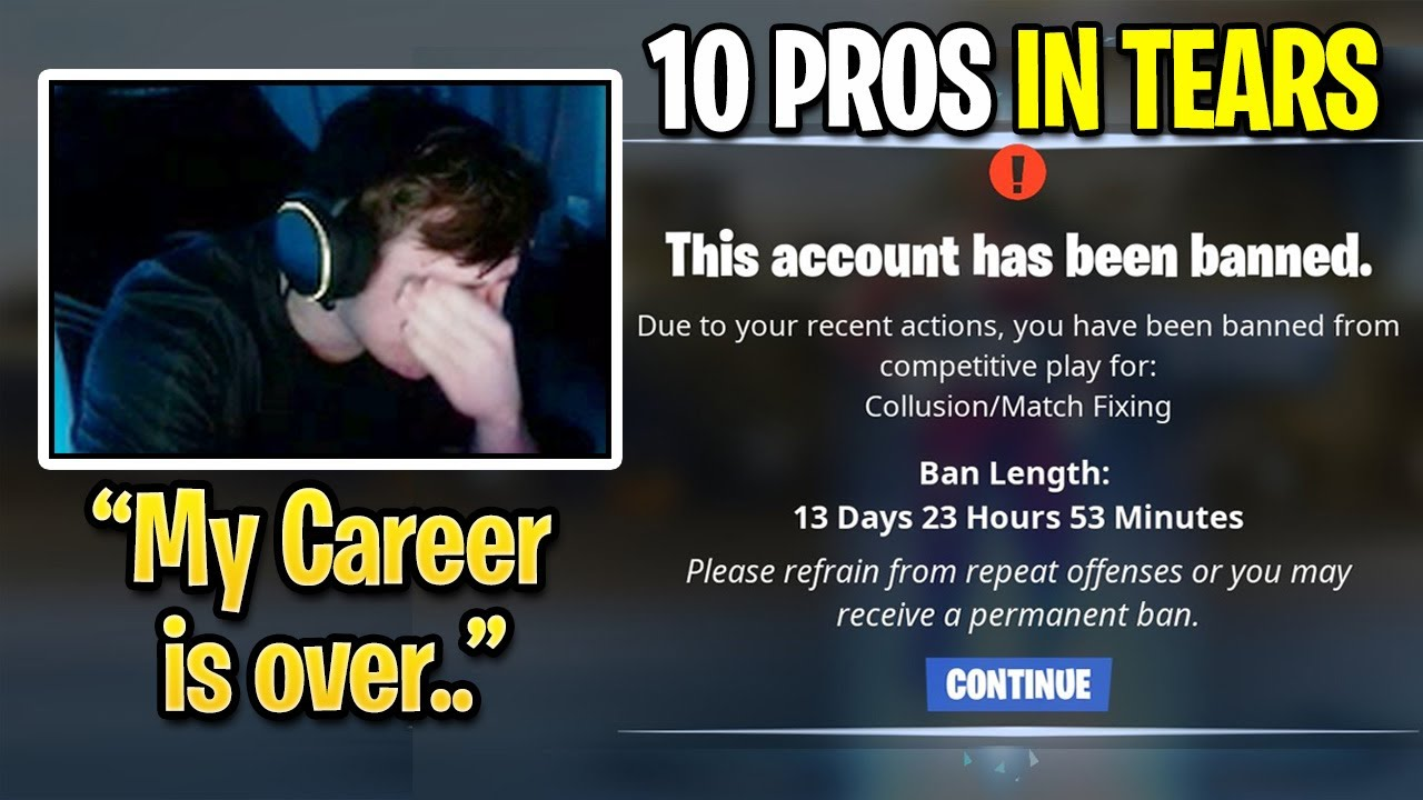 10 Pros IN TEARS After Epic BANNED them for CHEATING in Dreamhack Tournament! (Fortnite Season 4)