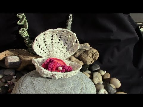 Sea Shell In Irish Crochet Lace Youtube