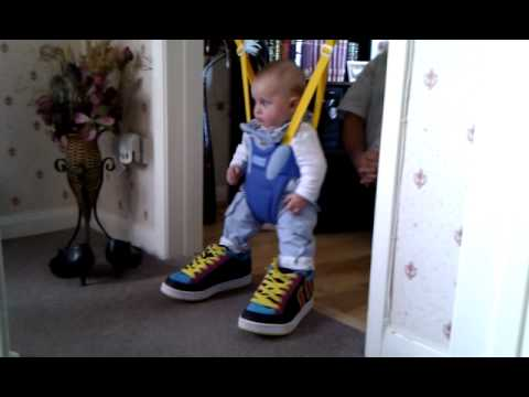 8acdf8e974a3 3 month old baby wearing adult shoes - YouTube