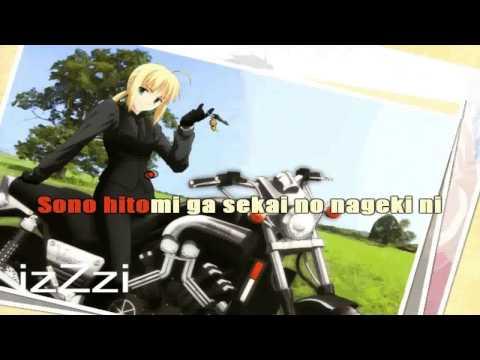 [ KARAOKE ] Fate Zero 2 ED1 - Sora wa Takaku Kaze wa Utau ( instrumental + lyrics )