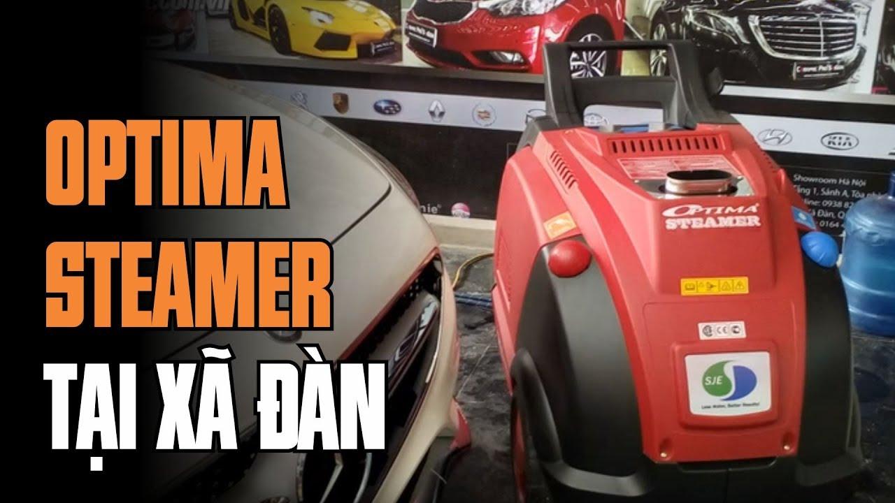 Rửa vỏ, xử lý sơn xe bằng hơi nước nóng Optima Steamer. Chuyển giao tại Xã Đàn – Hà Nội