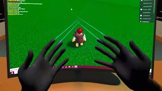 I Used VR HANDS To Build On Roblox..