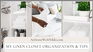 linen closet organization his her space