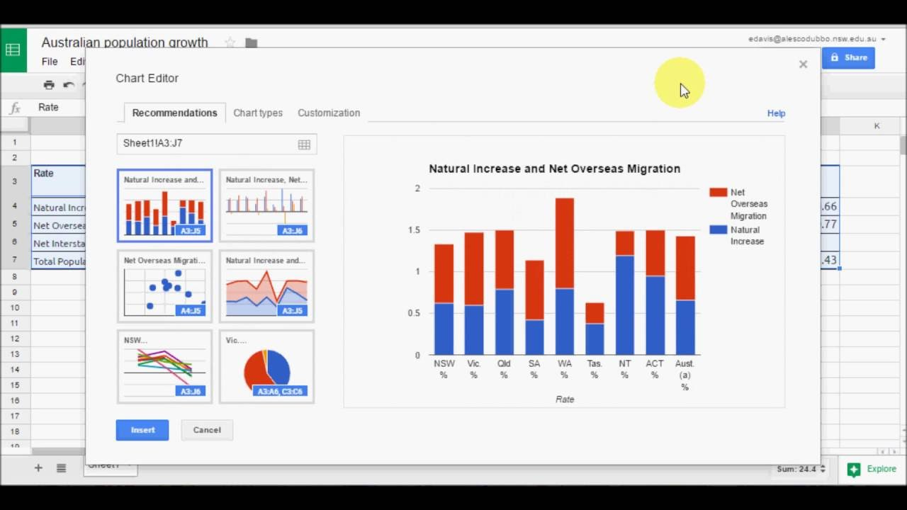 Creating charts in google sheets tutorial youtube creating charts in google sheets tutorial baditri Image collections