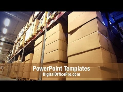 Warehouse Management Powerpoint Template Backgrounds