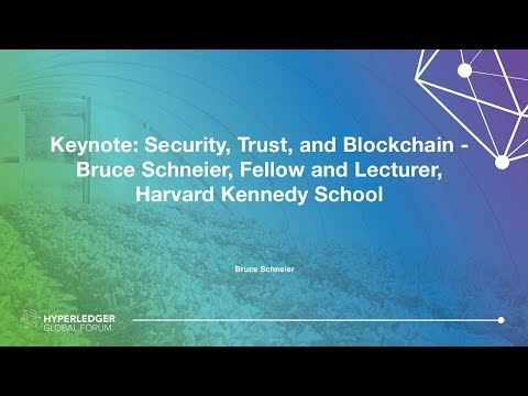 Keynote: Security, Trust, And Blockchain