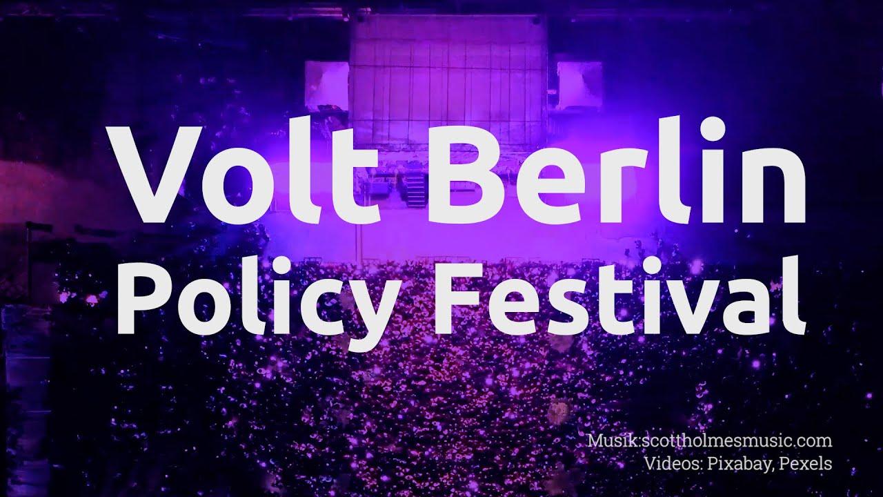 YouTube: Volt Berlin: Einführung des Berliner Policy Festival