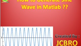 How to generate Sine Wave in Matlab????