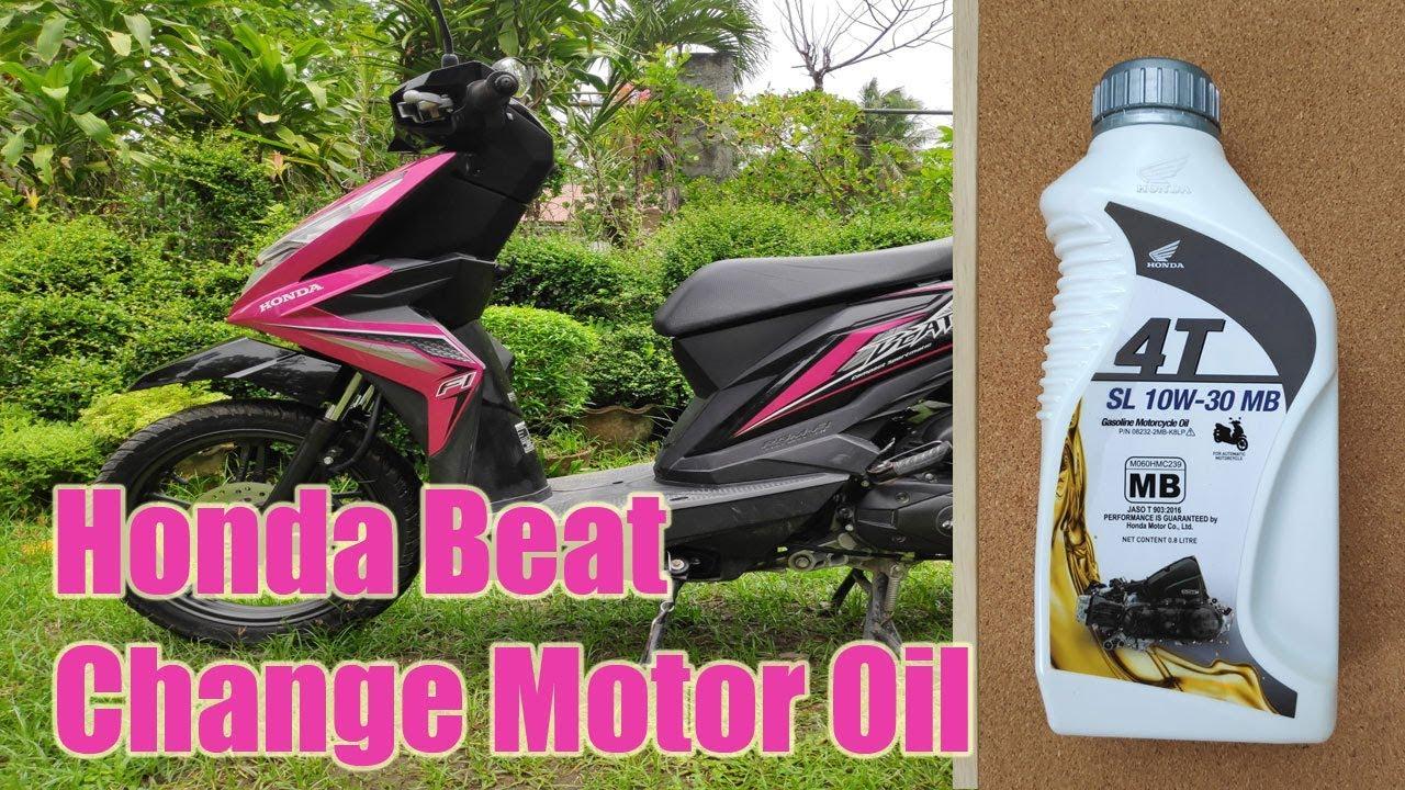 Honda Beat FI Change Motor Oil - YouTube