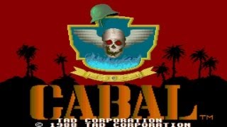 Cabal 1989 TAD Corporation Mame Retro Arcade Games