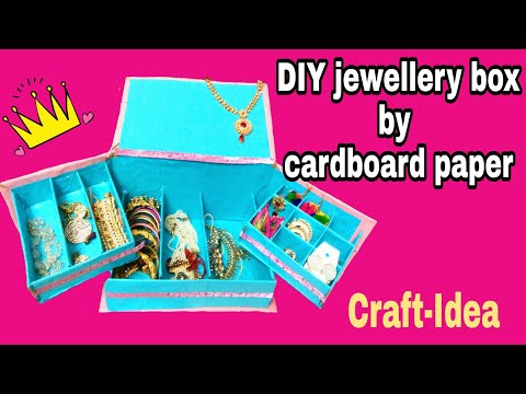 Jewellery box by cardboard paper
