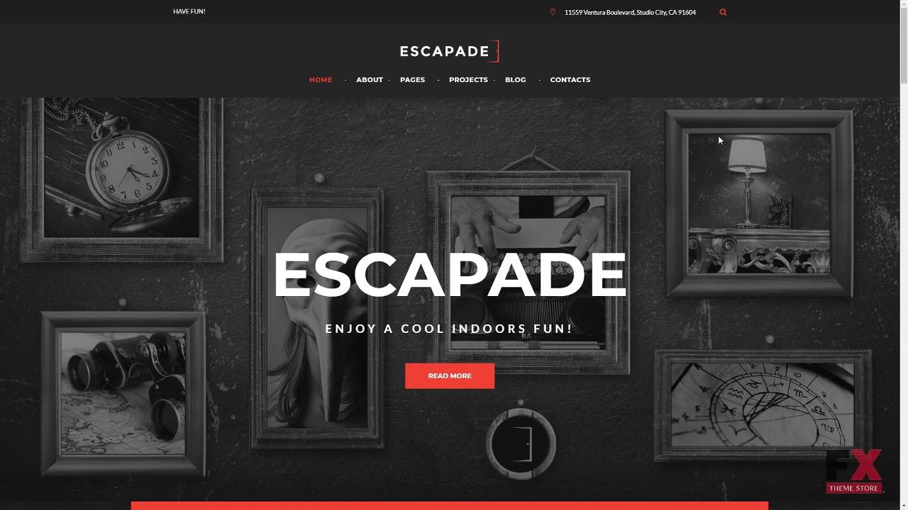 Image result for Escapade- Escape Room Responsive WordPress Theme