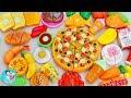 รีวิวของเล่น ชุดผักผลไม้หั่นได้ พิซซ่า ขนมเค้ก ของเล่นอาหาร ของเล่นทำกับข้าว Toy Velcro Cutting