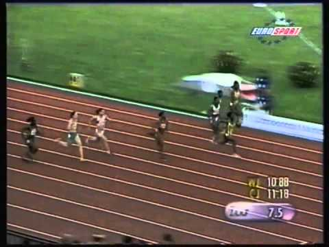 2000,  Emily Maher, World Junior Championships, Chile, 100m