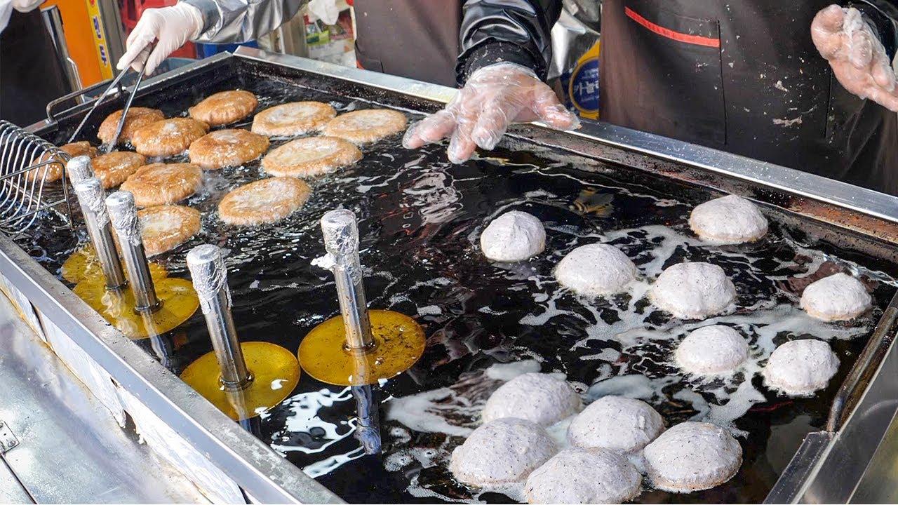 """역대급 줄서서 먹는 호떡! 호떡 맛집 모음 9편~ / Korean pancake """"Hotteok"""" - Korean street food"""