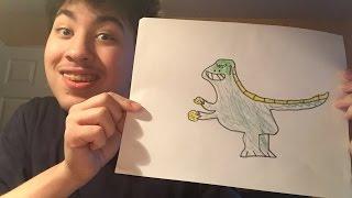 Drawing With Potato: Episode 3 - Godzilla Eating A Potato