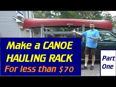 Make A Canoe Lumber Ladder Rack