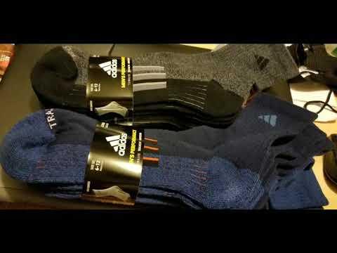 Costco! Adidas Mens Performance Climalite Quarter Socks! 4 PK $9!!!