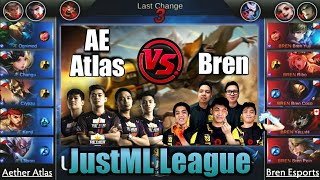 Game1 Aether Atlas VS Bren   JustML League Playoffs