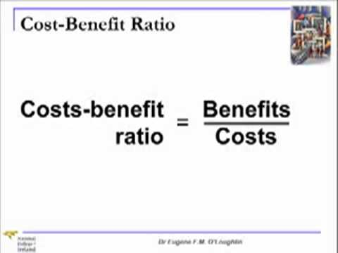 Chapter    Cost Benefit Analysis Lecture  Youtube