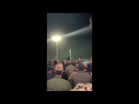 Sailors Cheer Fired Navy Captain Brett Crozier From USS Theodore Roosevelt