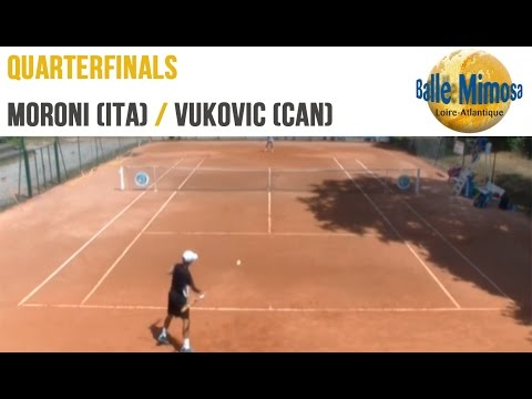 MORONI (ITA) vs VUKOVIC (CAN) Quarterfinals - Center court