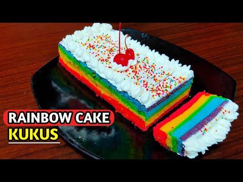 rainbow-cake-kukus-2-telur-🌈