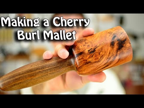 Making a Cherry Burl mallet