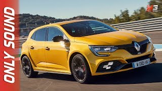 New renault megane rs 4control 2018 - first test drive on track only sound