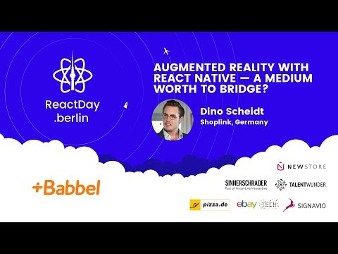 Augmented Reality With React Native — a Medium Worth To Bridge? Dino Scheidt