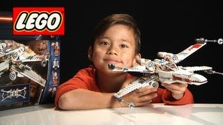 X-WING STARFIGHTER / FIGHTER - LEGO Star Wars Set 9493 - Time-lapse/Stop Motion Build, Review