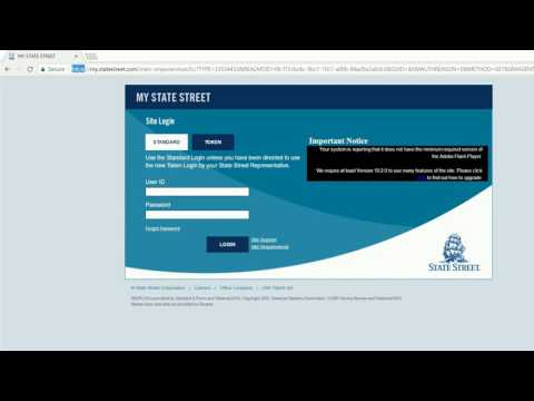 login into State Street Corp online banking account united states of america