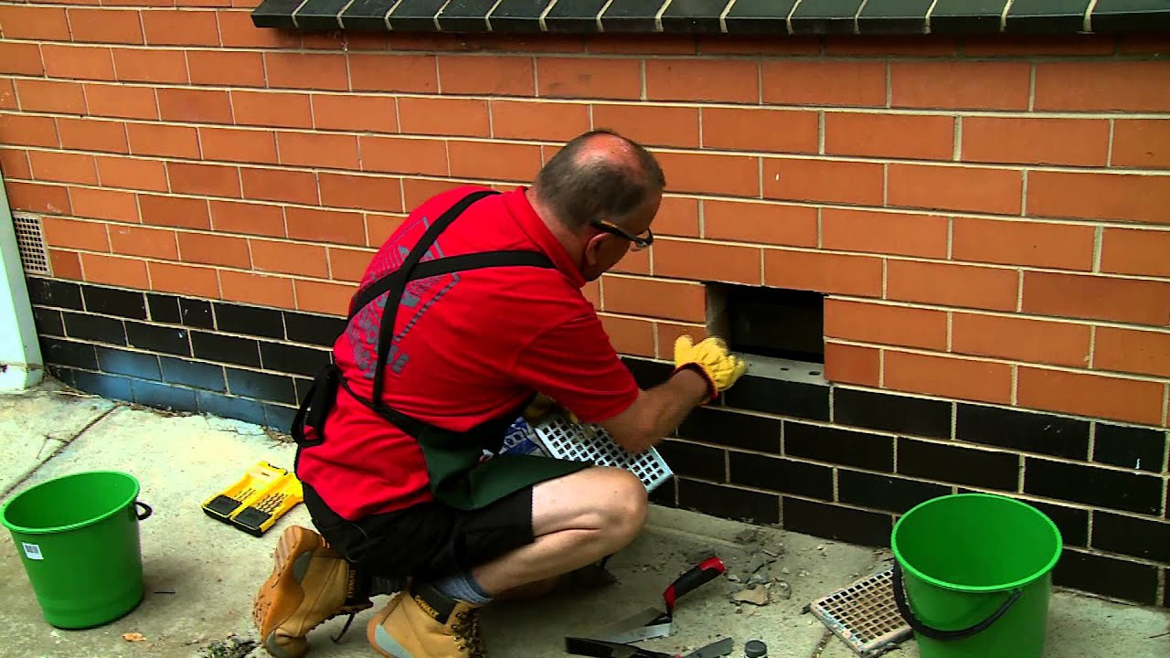 How To Replace A Brick Wall Vent Diy At Bunnings Youtube
