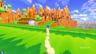 Sonic Utopia Speedrun (1:11.05) - Center shortcut route: Green Hill Zone