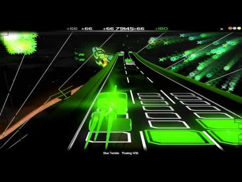Audiosurf (初音ミク Hatsune Miku) Floating with {Blue Twinkle}