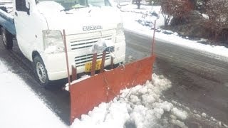 Repeat youtube video 軽トラ除雪(2)、自作部品紹介。